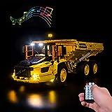 LODIY Beleuchtung LED Licht Set mit Soundeffekte Fernbedienung für Lego 42114 Technic Knickgelenkter Volvo-Dumper 6x6 (Nicht Enthalten Lego Modell)