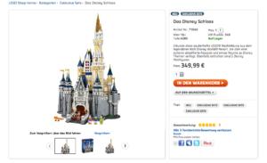 Lego Disney Schloss aus dem Lego Store